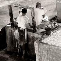 Porridge factory workers